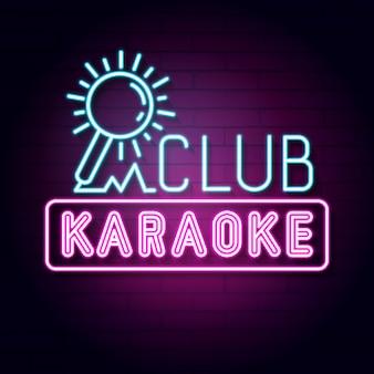 Karaoke bar letrero de neón. exhibición llevada de la muestra de la luz de neón.