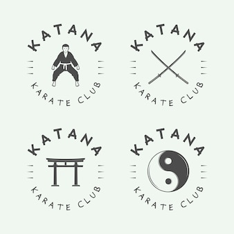 Karate o logotipo de artes marciales
