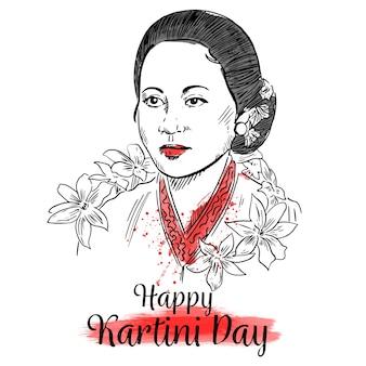 Kartini día retrato de héroe