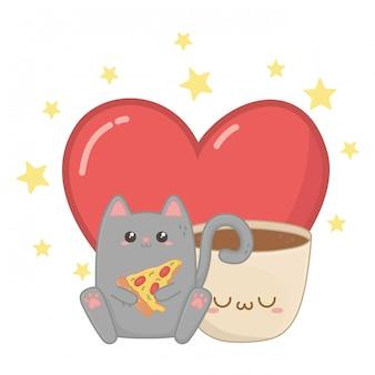 Kawaii de dibujos animados de gato