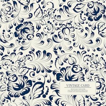 Khohloma estilo floral de patrones sin fisuras.