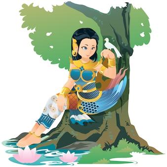 Kinnari criatura mítica del sudeste asiático