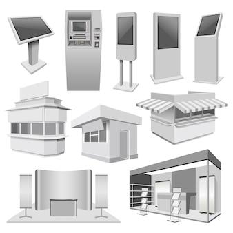 Kiosk stand stand maqueta set
