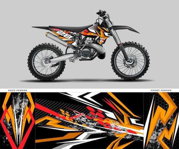 Kit de adhesivo gráfico motocross