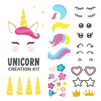 Kit de creación de cara de unicornio
