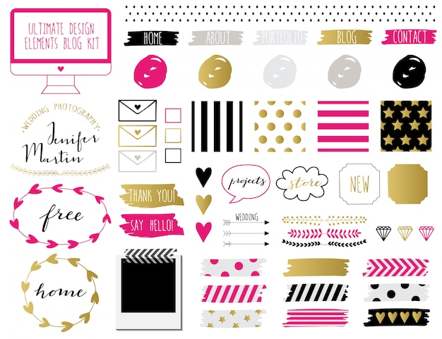 Kit de elementos del blog.