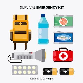 Kit de emergencia en estilo flat