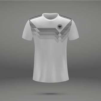 Kit de fútbol de alemania 2018, plantilla de camiseta para camiseta de fútbol.