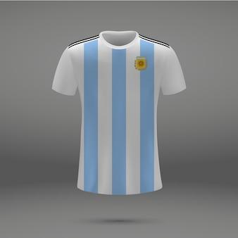 Kit de fútbol de argentina, plantilla de camiseta para camiseta de fútbol.