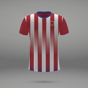 Kit de fútbol del atlético de madrid, plantilla de camiseta para camiseta de fútbol.