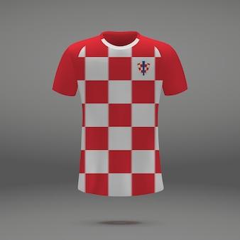 Kit de fútbol de croacia, plantilla de camiseta para camiseta de fútbol.