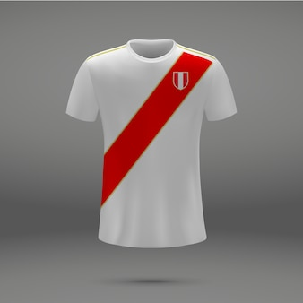 Kit de fútbol del perú, camiseta de la camiseta de fútbol.