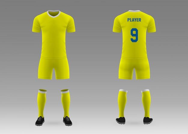 Kit de fútbol de plantilla realista 3d