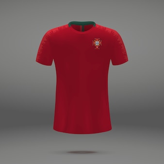 Kit de fútbol de portugal, camiseta plantilla para camiseta de fútbol.