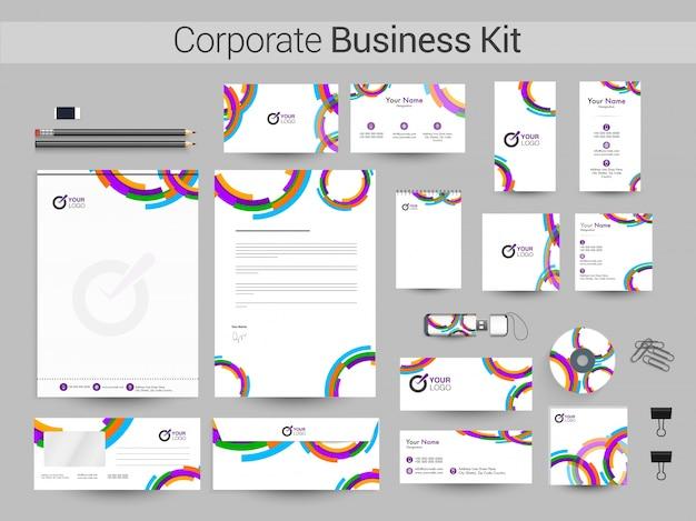 Kit de identidad corporativa o plantillas de negocios.