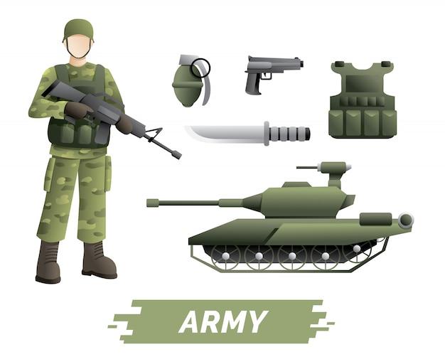 Kit de instrumentos militares