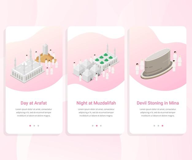 Kit de interfaz de usuario para la guía de hajj paso a paso