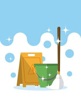 Kit de limpieza de cubo y trapeador