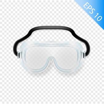 Kit médico equipo de elementos editables de vidrio de seguridad