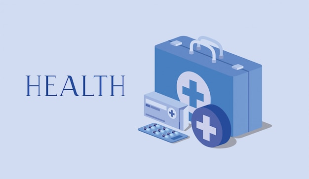 Kit medico medicina pastillas caja