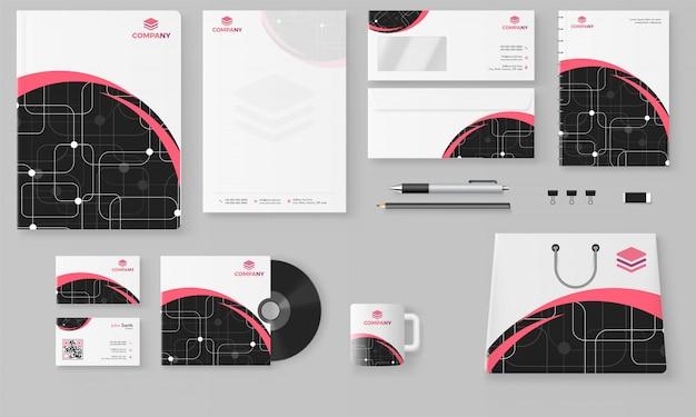 Kit profesional de marca comercial con cabecera de letra