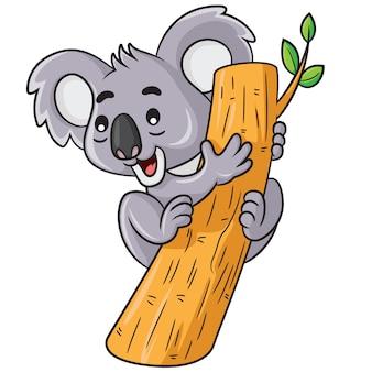Koala lindo dibujo animado