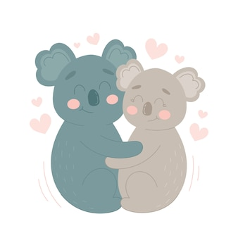 Koala valentines day animal pareja