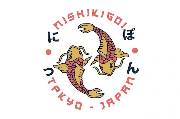 Koi pescado japonés