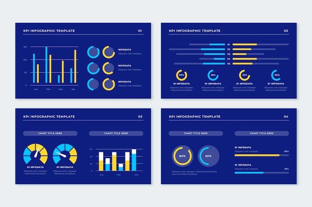Kpi - concepto de infografía