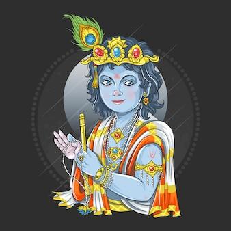 Krishna vishnu dios avatar ilustraciones