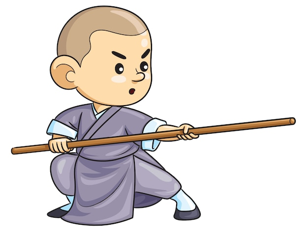 Kung fu kid de dibujos animados