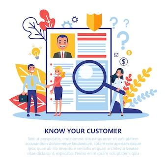 Kyc o conozca su concepto de cliente. idea de negocio