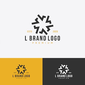 L monogram premium logo boutique