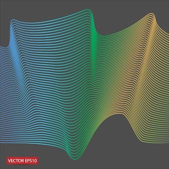 La composición de curva tiene un sentido de fondo de perspectiva.
