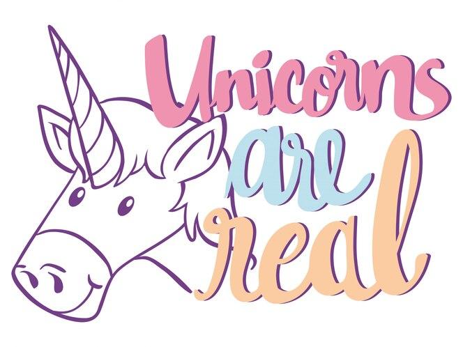 La frase en inglés para unicornio es real