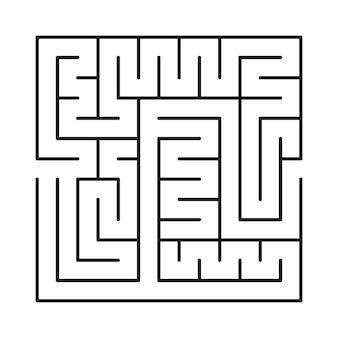 Laberinto cuadrado. laberinto oscuro laberinto abstracto aislado sobre fondo blanco. juego para niños. ilustración vectorial.