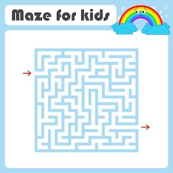 Laberinto. juego para niños. laberinto gracioso. hoja de trabajo de desarrollo educativo.