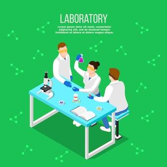 Laboratorio farmacéutico composición isométrica