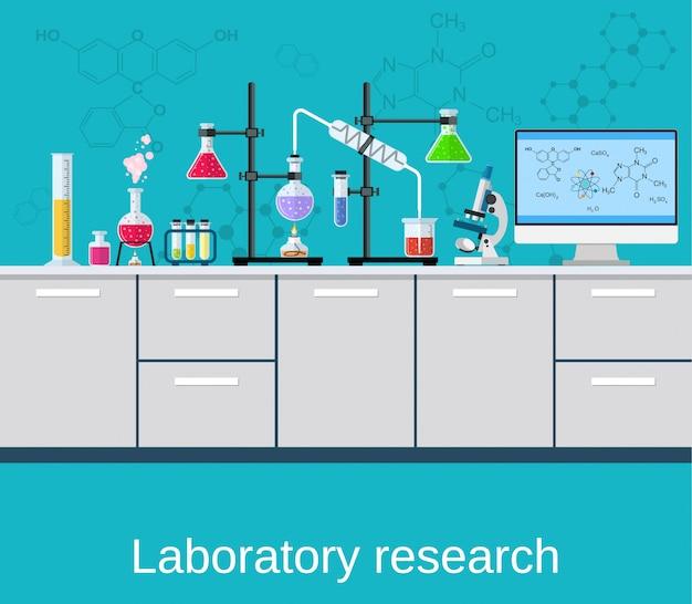 Laboratorio químico ciencia y tecnología