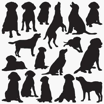 Labrador retriever silhouettes