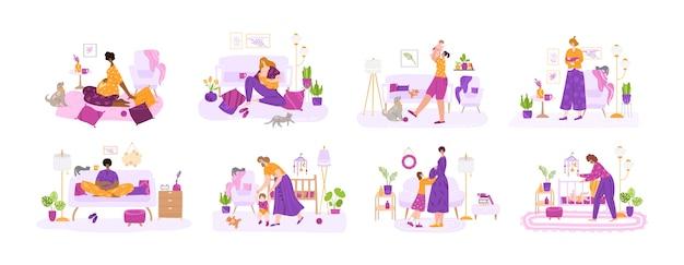 Lactancia materna, la maternidad, el parto de un bebé y el concepto de embarazo