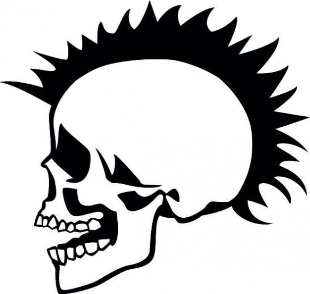 Lado punky del cráneo
