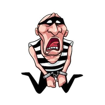 Ladrón está triste cuando fue atrapado