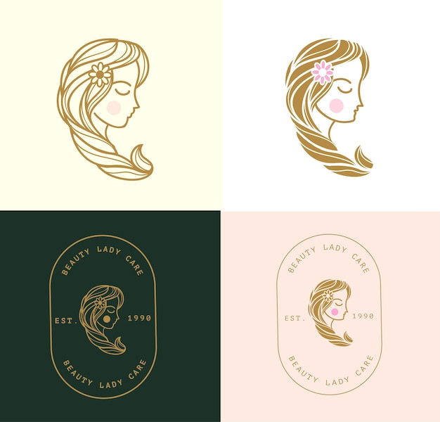 Lady beauty logo minimalista