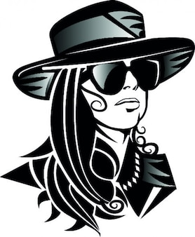 Lady gaga cabeza con sombrero