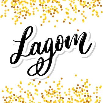 Lagom significa texto inspirador escrito a mano