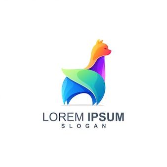 Lama logo diseño color completo