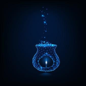 Lámpara de bajo brillo con aroma de poli a vela.