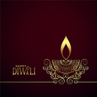 Lámpara decorativa creativa diwali diya golden