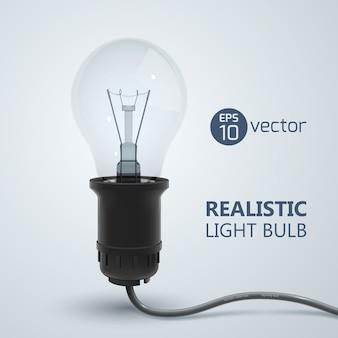 Lámpara de filamento realista